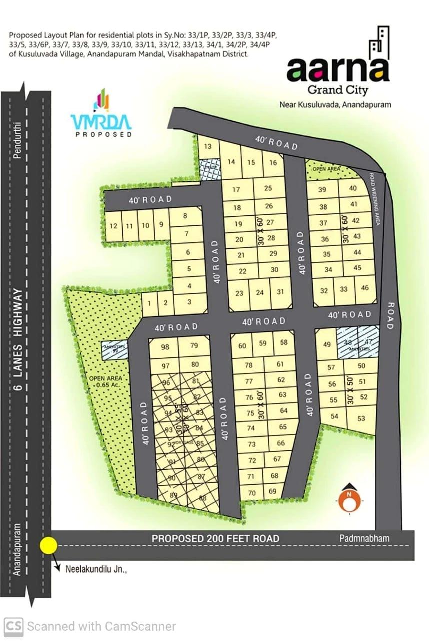 Brocher Aarna Grand City Residential Plots, Visakhapatnam, Andhra Pradesh